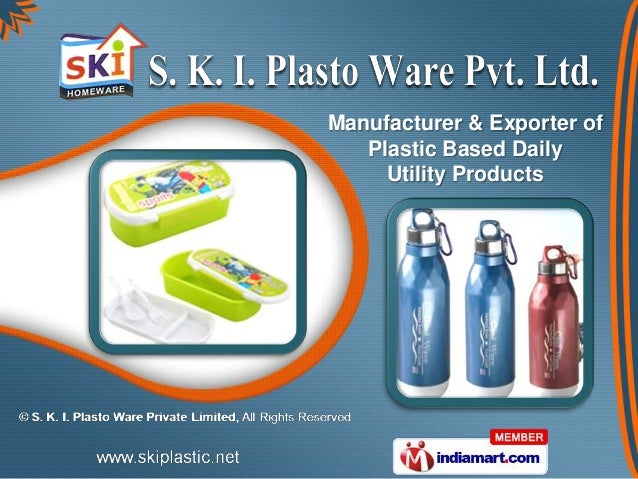 Manufacturer & Exporter of   Plastic Based Daily     Utility Products