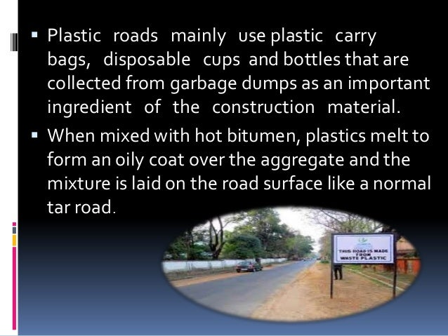 Use of plastic waste in road construction youtube.
