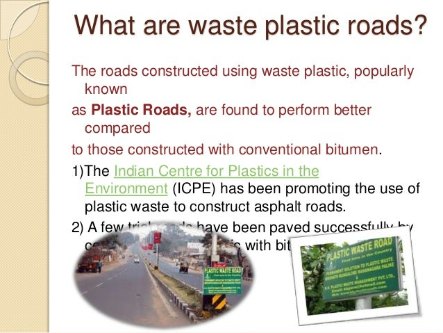 Plastic roads - Rd wastebasket ...
