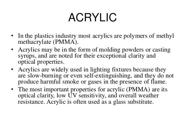 Acrylic Sheet Chemical Properties