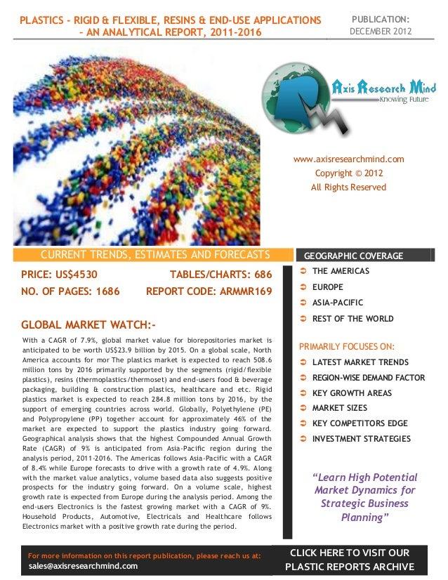 PLASTICS - RIGID & FLEXIBLE, RESINS & END-USE APPLICATIONS                                PUBLICATION:            – AN ANA...