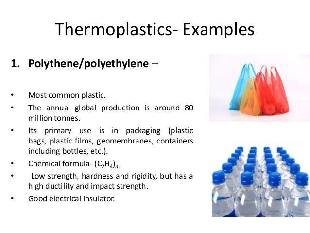 Plastics and rubber