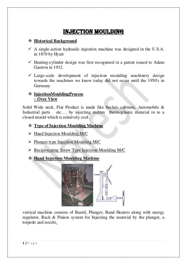 Plastics processing Manual (CIPET JAIPUR)