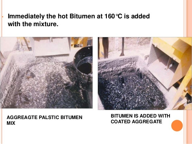 laying of polymer coated bitumen roads in Coated macadam for softening polymer-modified bitumen membrane by heat can replace 15% of more expensive bitumen in the mix used to lay roads.