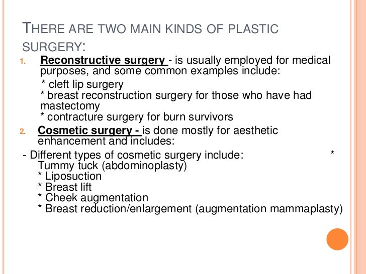 advantages of cosmetic surgery essay