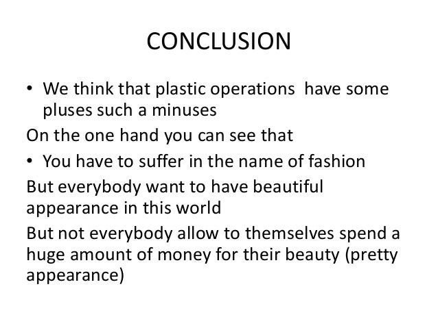 Views of College Students on Plastic Surgery