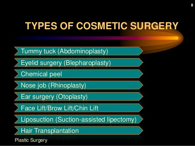 cons of plastic surgery Plastic surgery is, in fact, surgery, and as such carries pros and cons before deciding on a procedure, make sure you understand both the benefits.