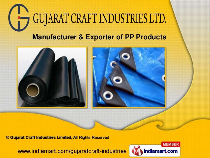 Manufacturer & Exporter of PP Products