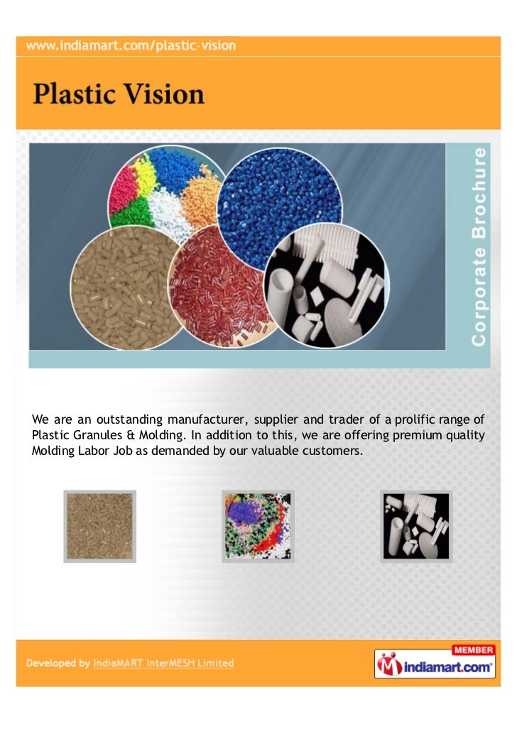 We are an outstanding manufacturer, supplier and trader of a prolific range ofPlastic Granules & Molding. In addition to t...