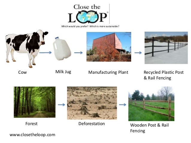 Cow Milk Jug Manufacturing Plant Recycled Plastic Post & Rail Fencing Forest Deforestation Wooden Post & Rail Fencing Whic...