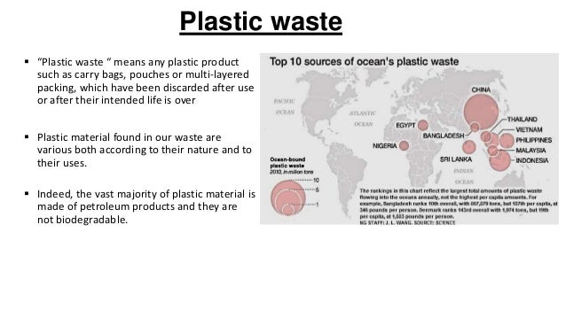 Plastic waste and management