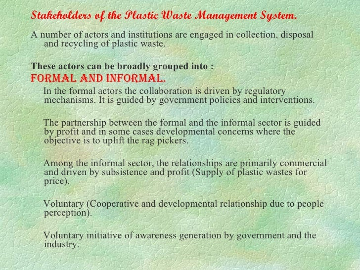 Plastic waste management by dr a b harapanahalli for Environmental management bureau region 13
