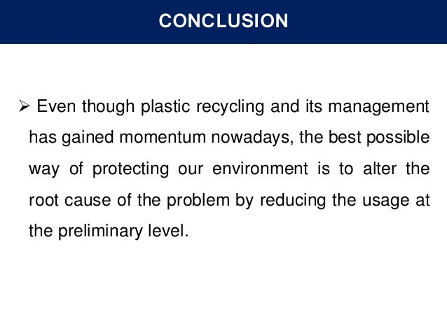 Plastic Waste Management And Recycling Technology P1