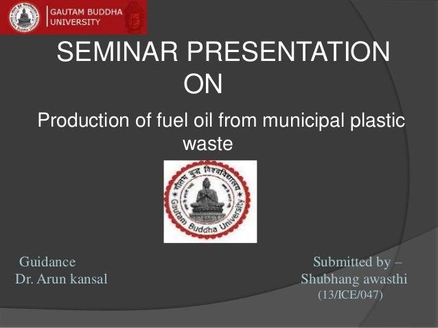 Plastic waste ppt