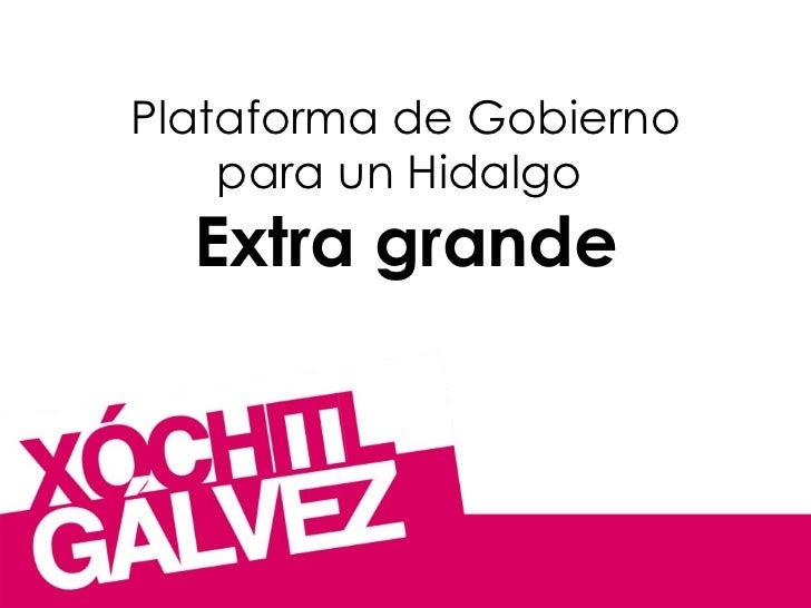 Plataforma de Gobierno para un Hidalgo  Extra grande