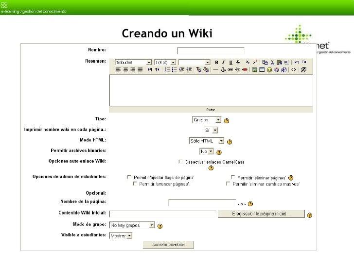 Creando un Wiki