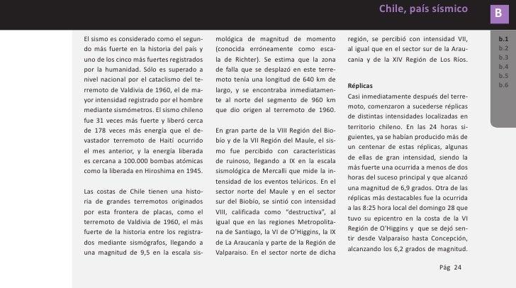 B        Chile, país sísmico           DAÑOS PRODUCIDOS POR SISMOS b.1       DAÑOS PRODUCIDOS POR SISMOS. b.2 b.3       En...