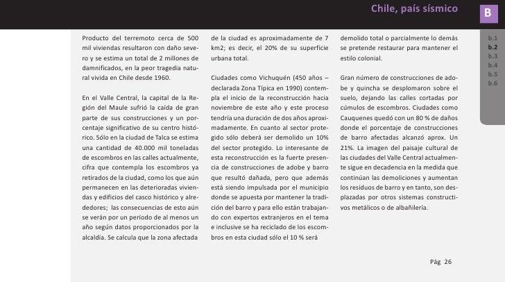 B        Chile, país sísmico           DAÑOS PRODUCIDOS POR SISMOS b.1       Cuando la falla fuera del plano está con- b.2...