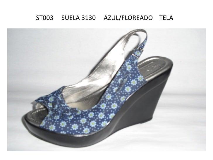 ST003   SUELA 3130   AZUL/FLOREADO TELA
