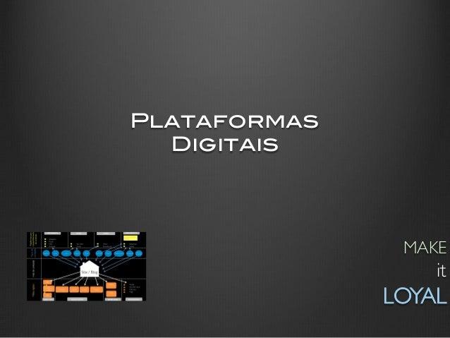 Plataformas !  Digitais!                  MAKE                       it                LOYAL