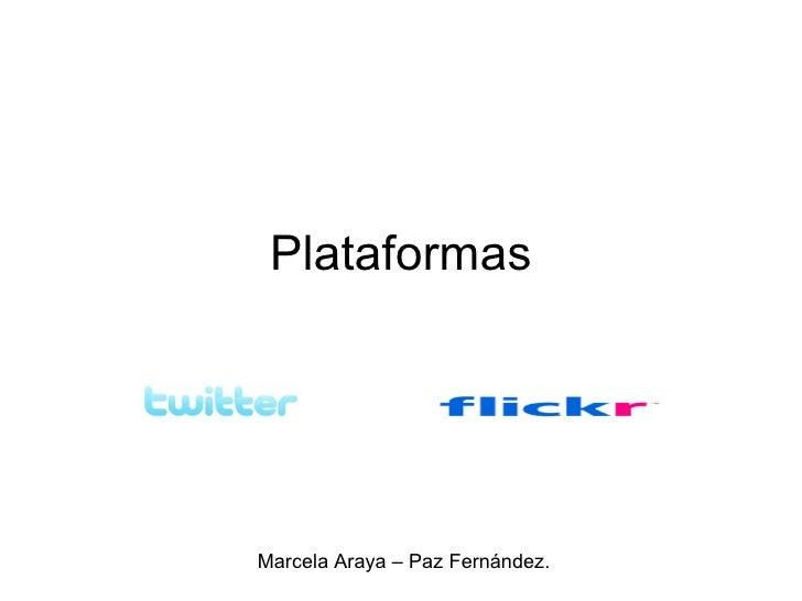 Plataformas Marcela Araya – Paz Fernández.