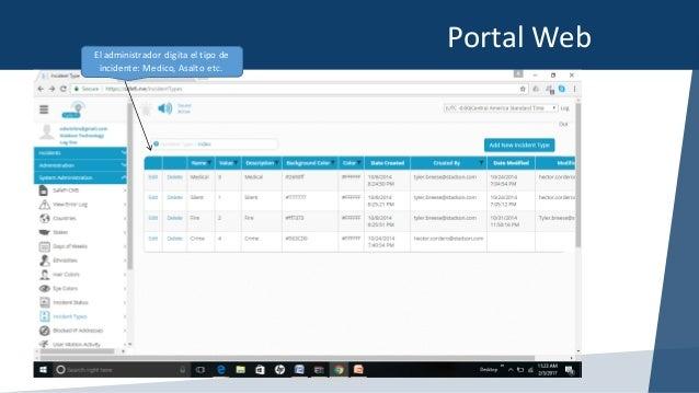 PortalWebElAdministrador,Agrega ellistado depersonas quienes recibirán laalerta por elincidente,puede incluir ema...