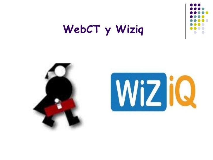 WebCT y Wiziq