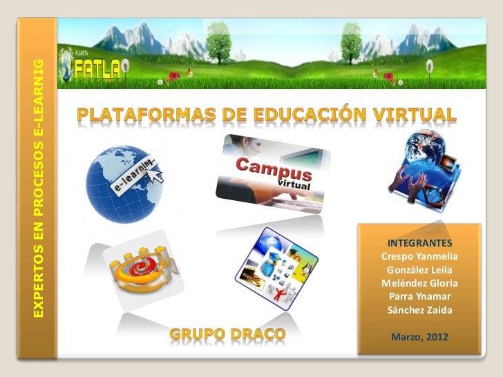 EXPERTOS EN PROCESOS E-LEARNIG                                  INTEGRANTES                                 Crespo Yanmeli...