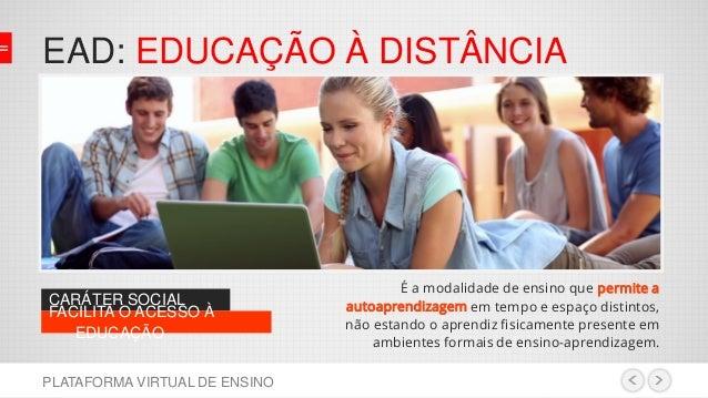 Plataforma de ensino virtual Slide 2