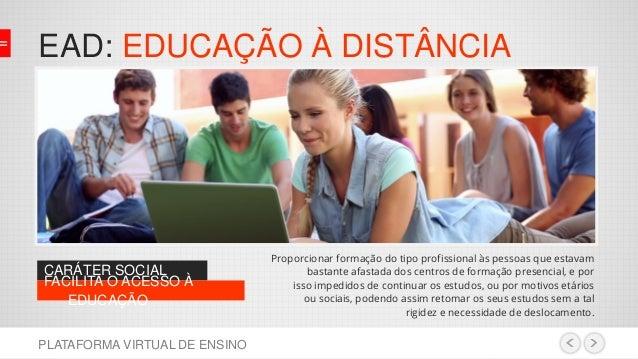 Plataforma de ensino virtual Slide 3