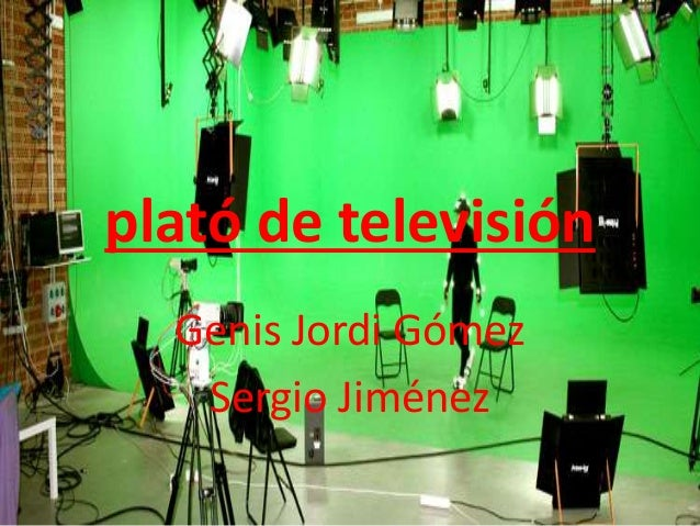 plató de televisión Genis Jordi Gómez Sergio Jiménez