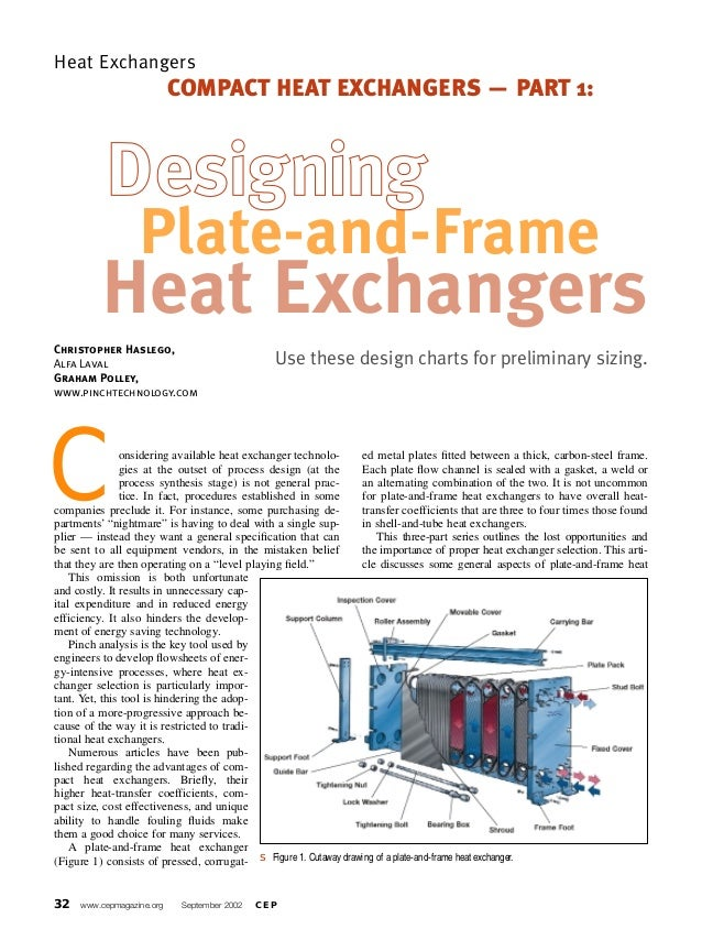 Plate and frame Heat Exchanger Sizing
