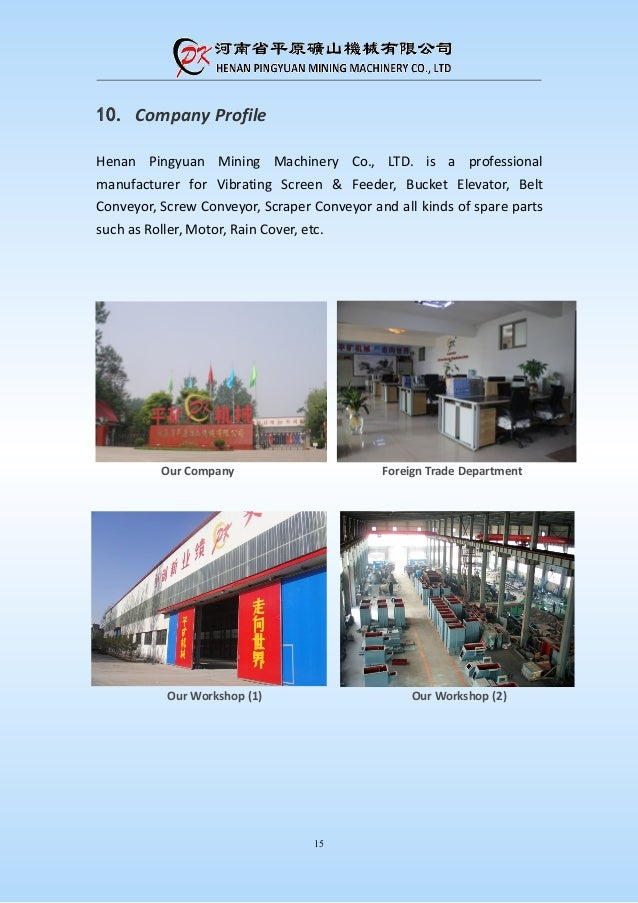 Plate Chain Bucket Elevator Product Introduction Pdf Pk Machinery