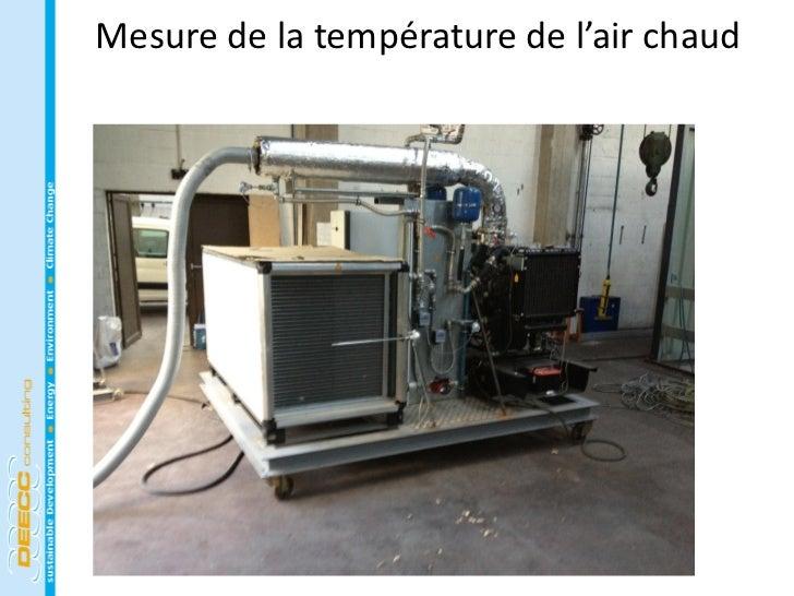 Mesure de la température de l'air chaud