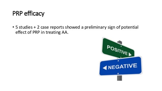 First report to establish the efficacy of PRP as a treatment modality in AA