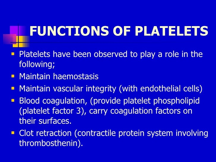 platelets structure and function pdf