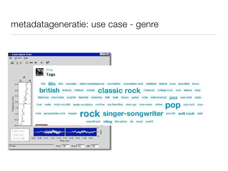 metadatageneratie: use case - genre