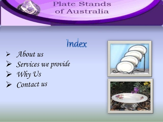 ... Plate Stands; 2.  sc 1 st  SlideShare & Massive Collection of Plate Stands in Australia