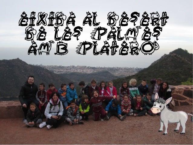 EIXIDA AL DESERT DE LES PALMES AMB PLATERO