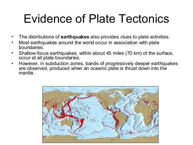 discuss the evidence for tectonic plate Plate tectonics is a good example of how the science community collects evidence and then continuously tests the theory we cannot make a mathematical nor real model.