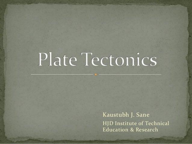 Kaustubh J. Sane HJD Institute of Technical Education & Research