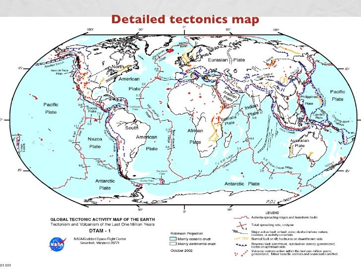 Plate Tectonics An Introduction - Plate tectonics map