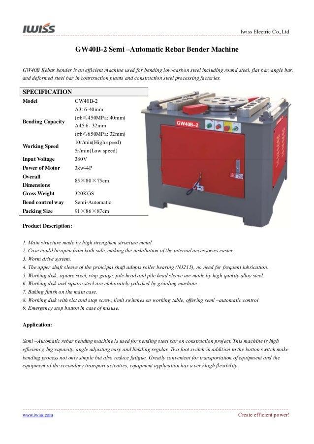 Platform Electric Rebar Cutting Machine and Rebar Bending