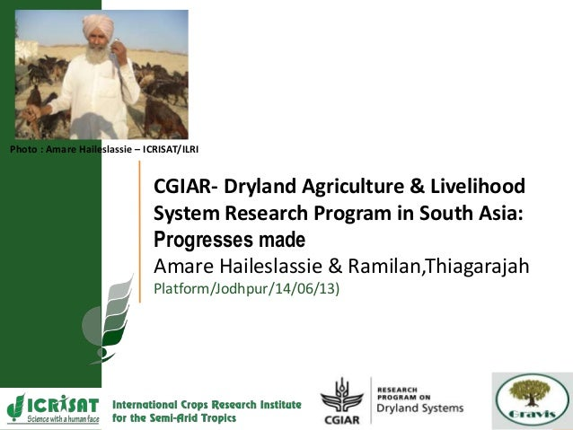 Photo : Amare Haileslassie – ICRISAT/ILRI CGIAR- Dryland Agriculture & Livelihood System Research Program in South Asia: P...
