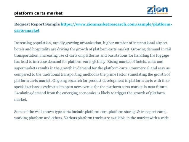 Platform Carts Market will Reach USD 548.25 Million in 2021: Zion Market Research Slide 3