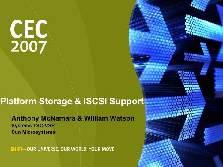 <ul><li>Anthony McNamara & William Watson </li></ul><ul><li>Systems TSC-VSP </li></ul><ul><li>Sun Microsystems </li></ul>P...