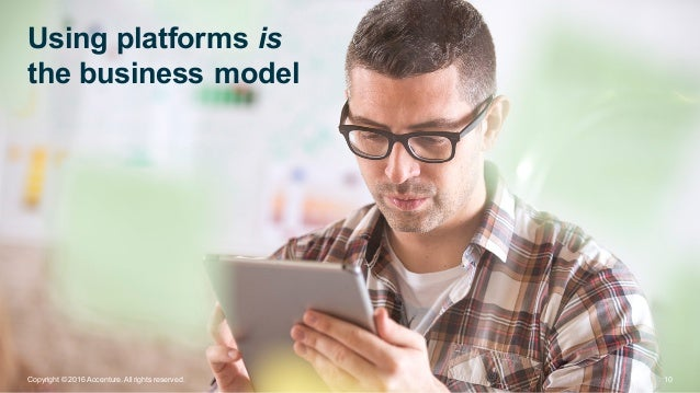 Using platforms is the business model 10Copyright © 2016 Accenture. All rights reserved.