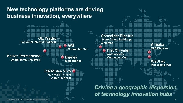 New technology platforms are driving  business innovation, everywhere 4 Driving a geographic dispersion  of te...