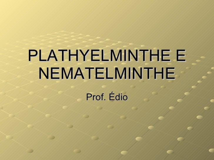 PLATHYELMINTHE E NEMATELMINTHE Prof. Édio