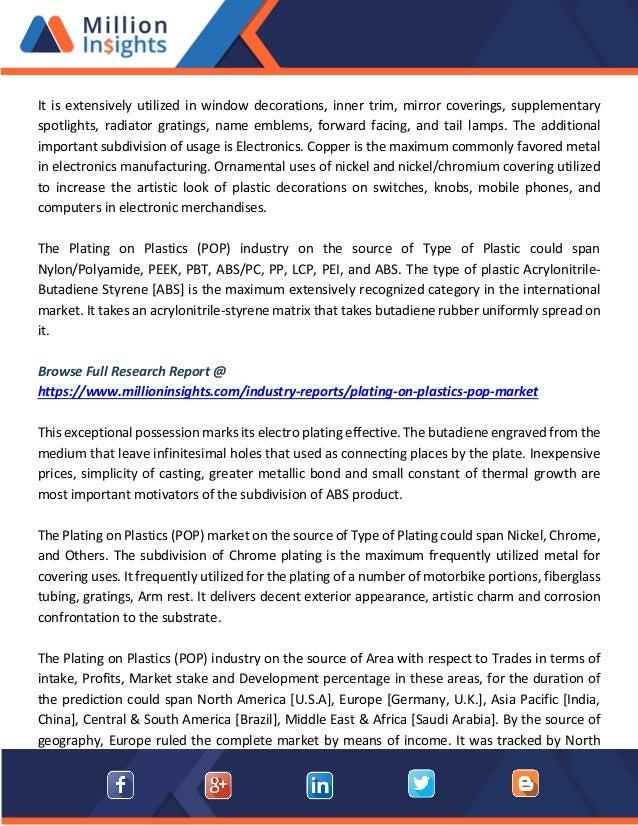 Plating on plastics market economic impact and market dynamics till 2…